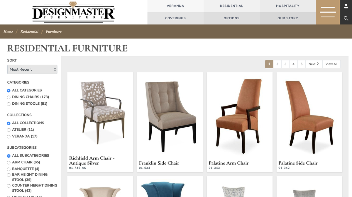 Designmaster Furniture Product Page