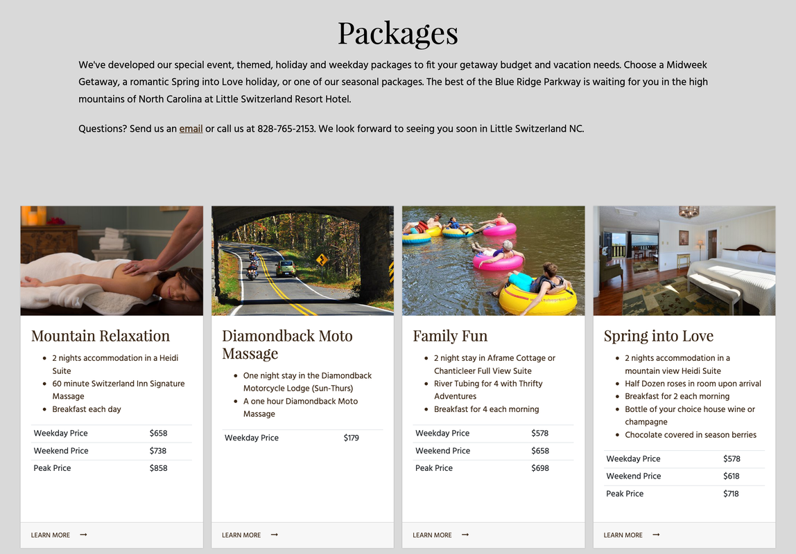 Switzerland Inn Packages