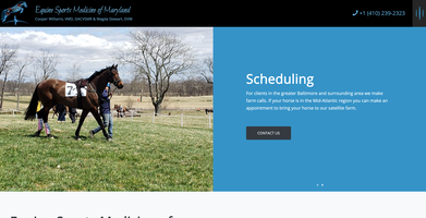 Equine Sports Medicine of Maryland Website