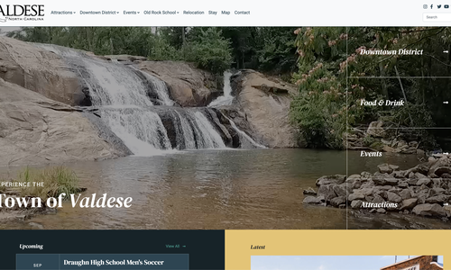 Valdese Tourism launches new website by VanNoppen Marketing