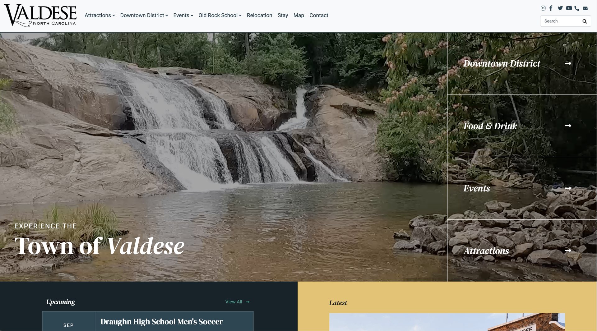 Visit Valdese NC website