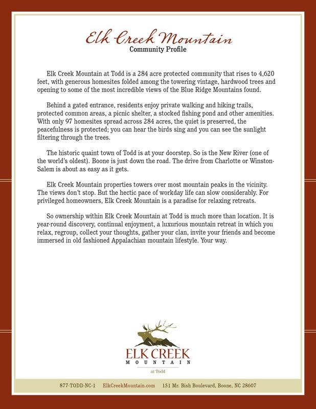 Elk Creek Mountain profile