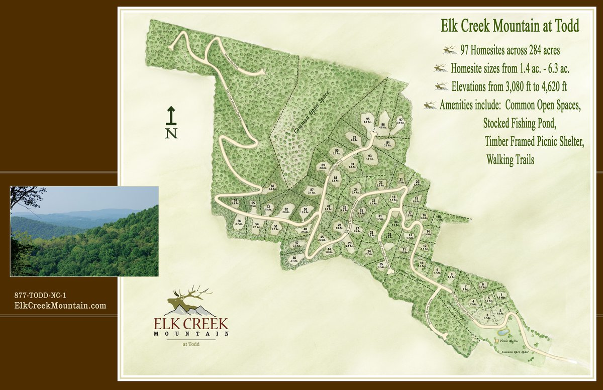 Elk Creek Mountain Map