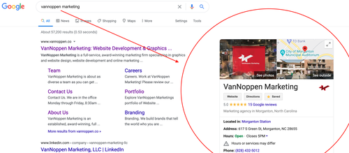 Google MyBusiness Listing Example