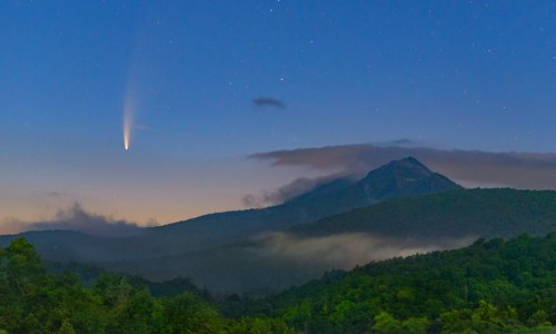 Comet NEOWISE and Grandfather Mtn