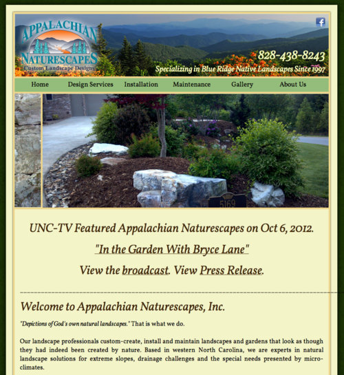 Appalachian Naturescapes profiled on UNC-TV