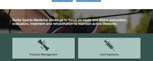 Burke Primary Care's Renovated Website
