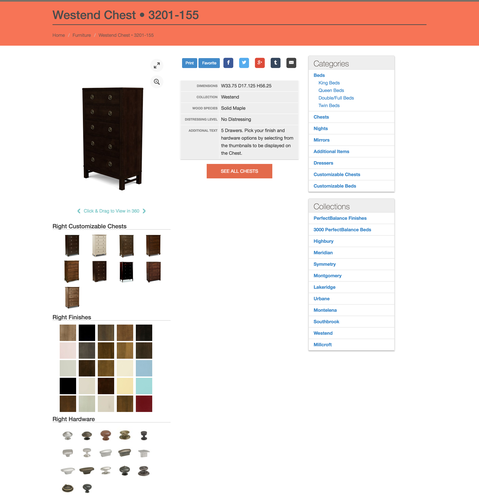 Perfect Balance Website Product Page