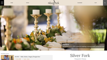 Silver Fork Winery website